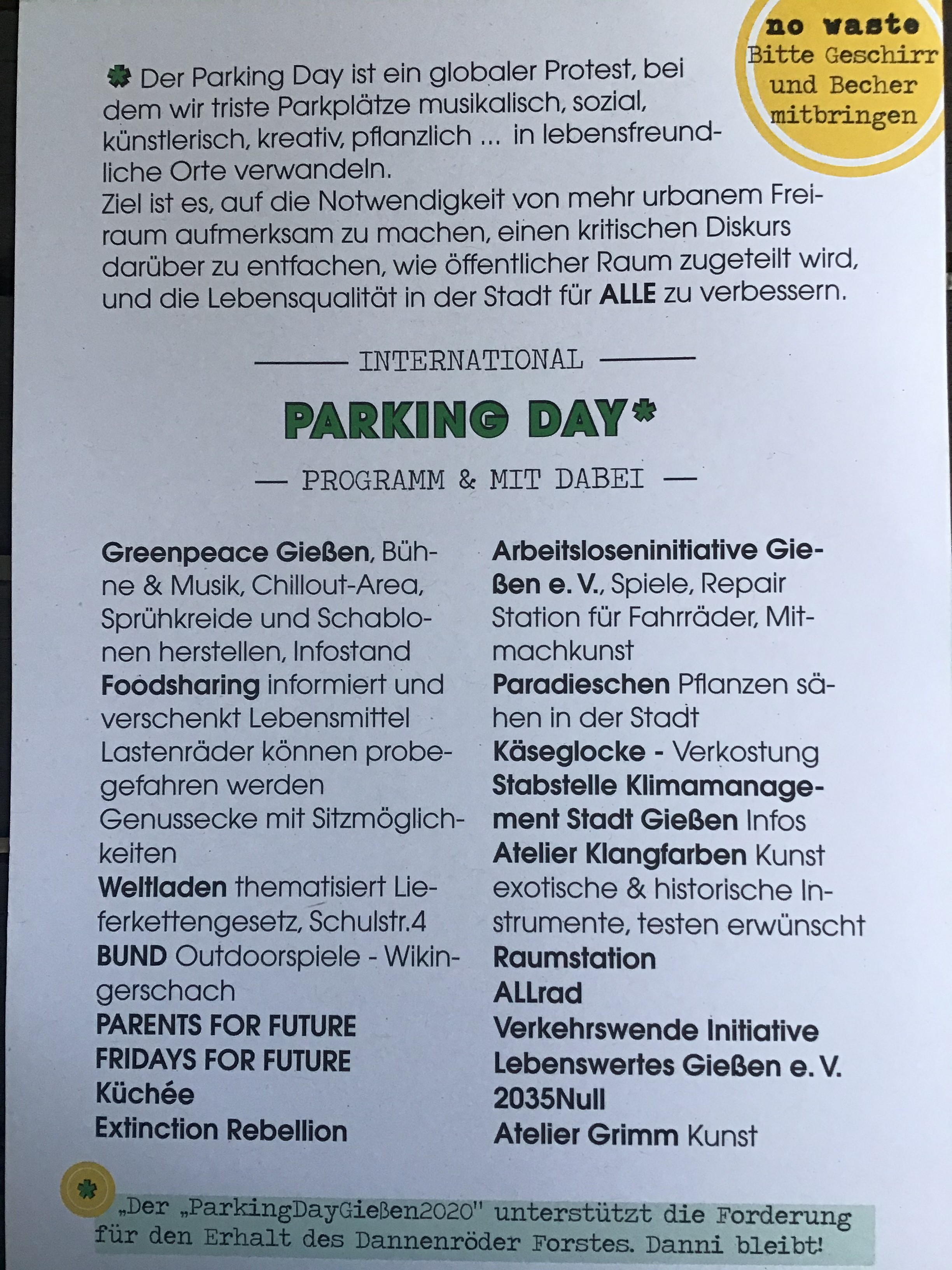 Parking Day Gießen