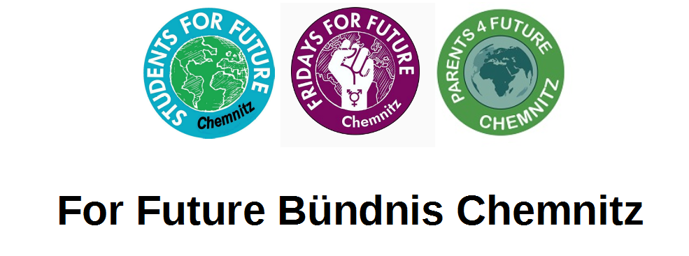 Logos des Chemnitzer For Future Bündnisses