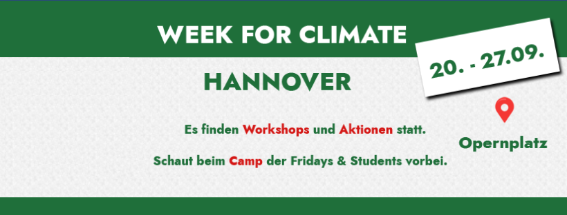 Week For Climate Banner